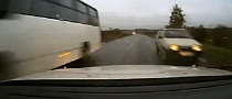 Russian Driver Squeezes Through Impossibly Small Gap [Video]