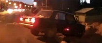 Russian Karma Punishes Fleeing Lada Driver [Video]