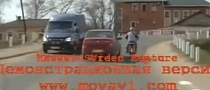 Russian Lady Crashes into Rider, Drives Away [Video]