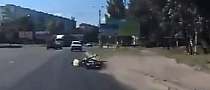 Russian Moped Rider Crashes in Extremely Silly Way [Video]