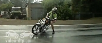 Russian Rider Crashing Silly in the Rain [Video]