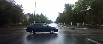 Russian Toyota Driver Chooses Very Bad Time to Brake [Video]