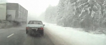 Russian Truck Driver Nearly Pulverizes Two Other Cars [Video]