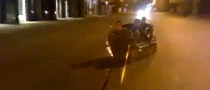 Russians Successfully Ride Sofa - Until They Crash [Video]