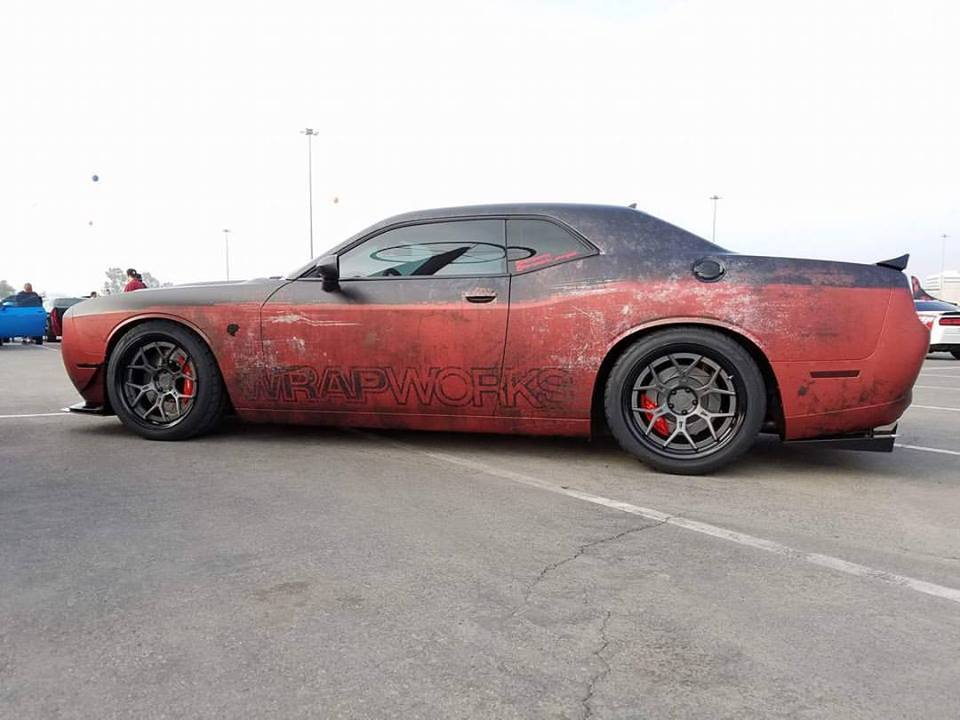 Hellcat Charger Wrapped >> Rusty Wrap Dodge Challenger Hellcat Looks like a Muscle Beater - autoevolution