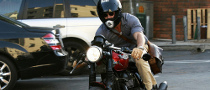 Ryan Reynolds Rides a Retro Triumph This Time