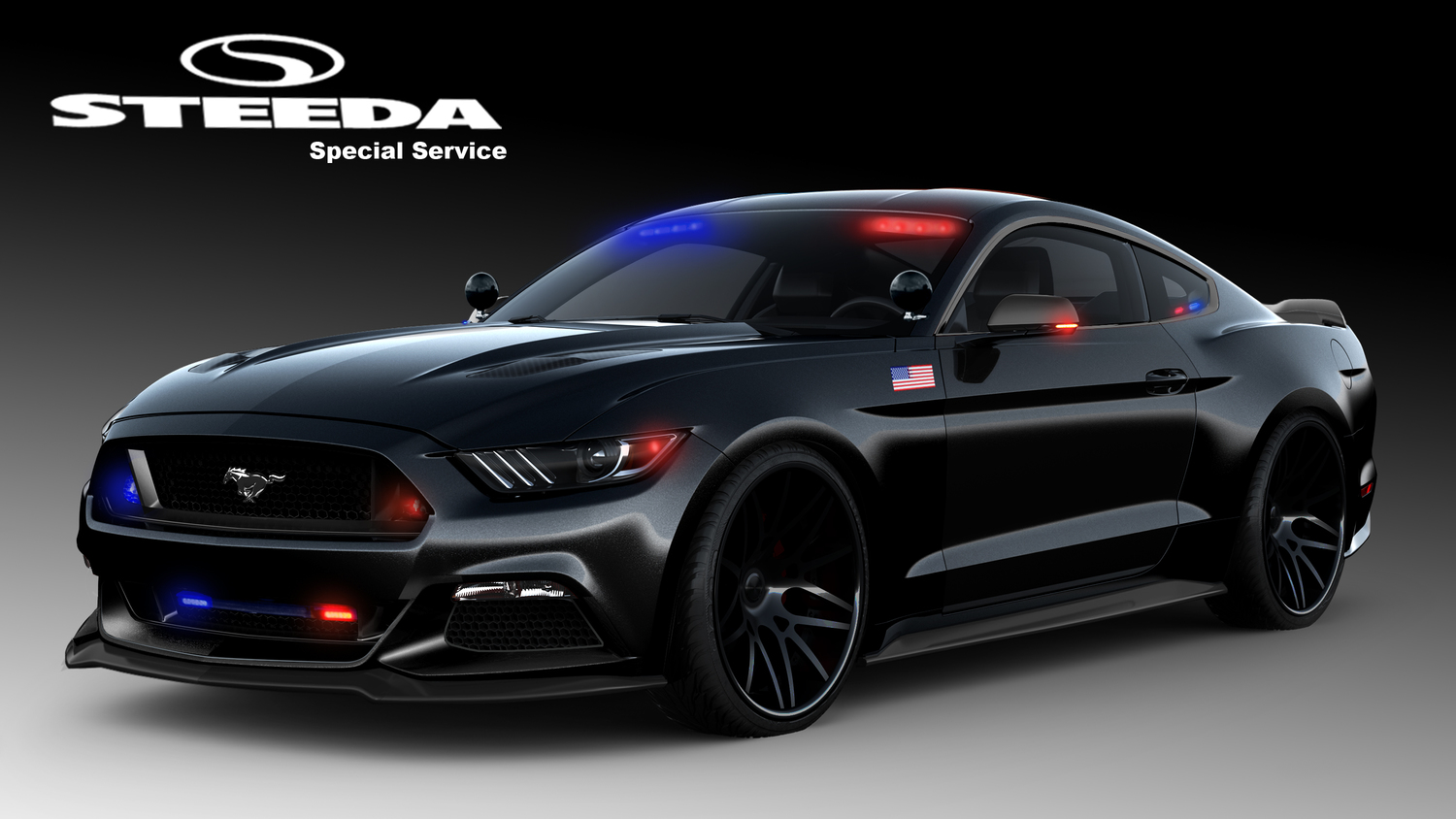 s550 mustang police car from steeda is ready to protect and serve