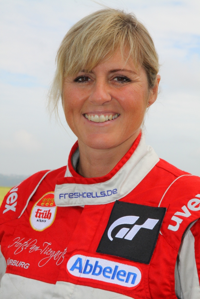 The 48-year old daughter of father (?) and mother(?), 167 cm tall Sabine Schmitz in 2017 photo