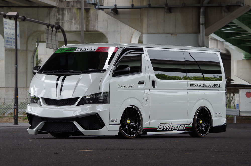 S A D Custom Japan Stinger 200hiace Is A Lamborghini