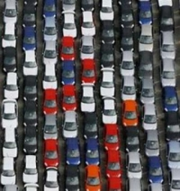 Cars stockpile in dealeships