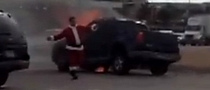 Samaritan Santa Pulls Man From Burning Car [Video]