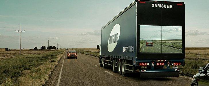 "Samsung Makes Trucks ""Transparent"" for Safer Overtaking ..."