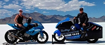 San Diego BMW's S1000RR Does 224 MPH at Bonneville