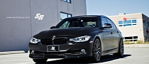 Satin Black 3 Series on PUR Wheels Is Darth Vader's Bimmer