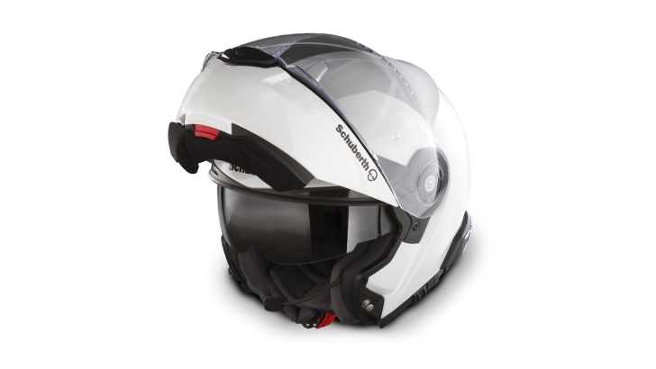 schuberth reveals bmw k1600gtl exclusive-matched mineral white c3
