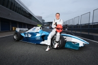 Michael Schumacher with the GP2 development car