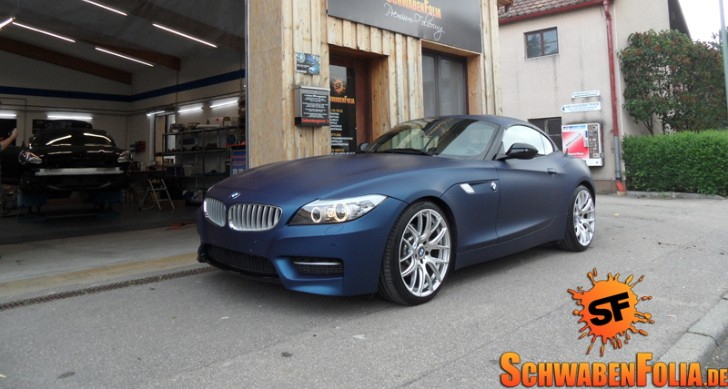 Schwaben Folia Is Back with a Sapphire Blue Matte E89 Z4 [Photo Gallery]
