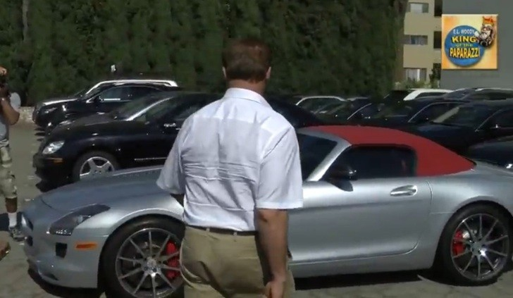 Schwarzenegger Drives a Mercedes SLS AMG Roadster [Video]