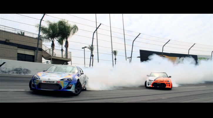 Scion FR-S Drifting Alongside tC Little Brother [Video]