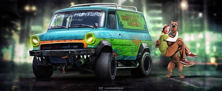 Scooby Doo Mystery Machine Gets Aggressive Virtual Tuning