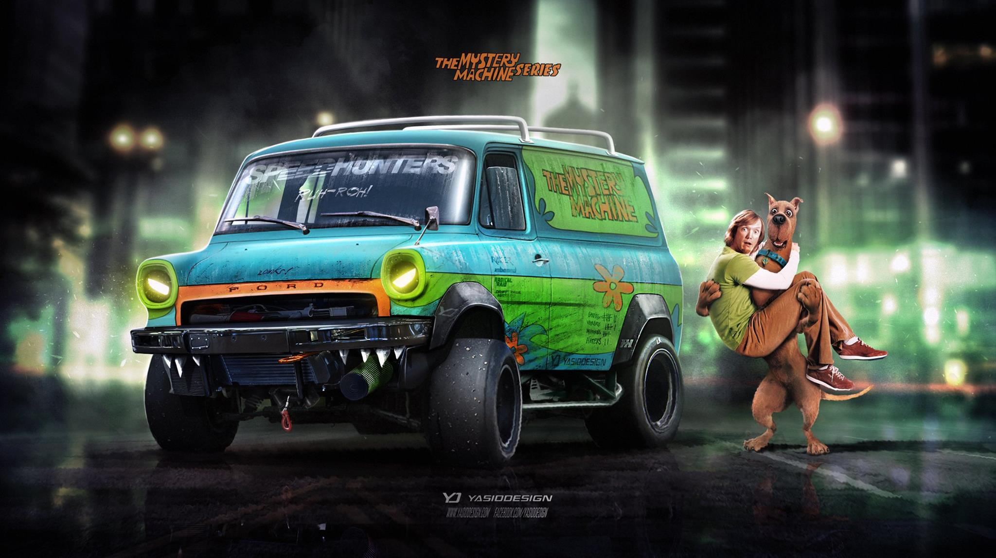 Scooby doo mystery machine gets aggressive virtual tuning - Race de scooby doo ...