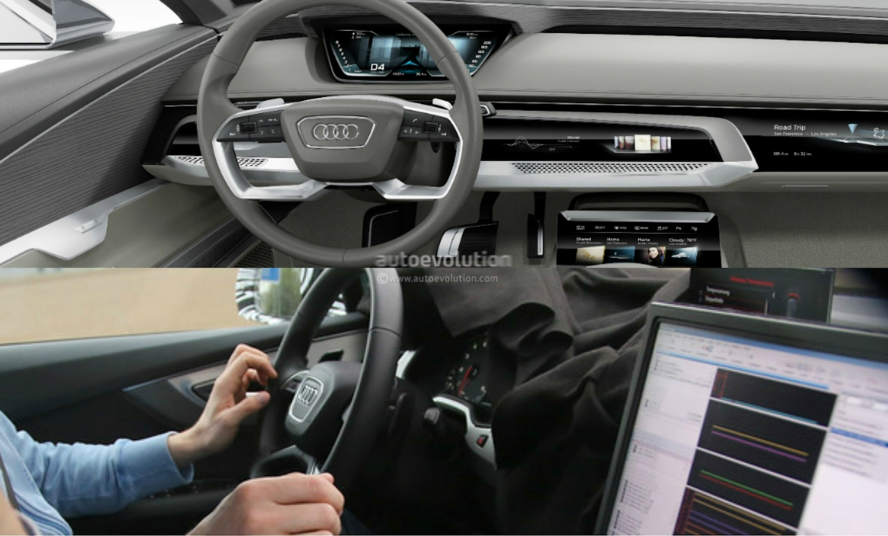 Scoop Audi Prologue Concept Has 2016 Q7 Steering Wheel autoevolution