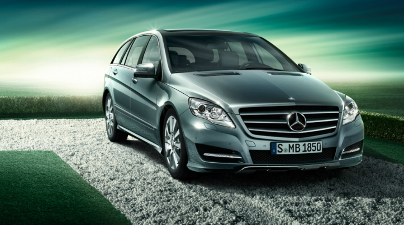 Scoop mercedes r class offered in china with new twin for Mercedes benz r350