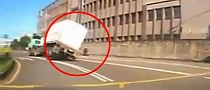 Scooter Rider Almost Crushed by Flipping Truck [Video]
