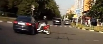 Scooter Smashes Hard into Car [Video]