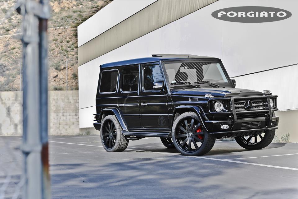 Scott Disick Puts Forgiato 24 Inch Rims On Mercedes G Wagon