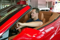 Schumacher at the wheel of a Ferrari California