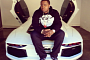 Sean Kingston Sits on His Lamborghini