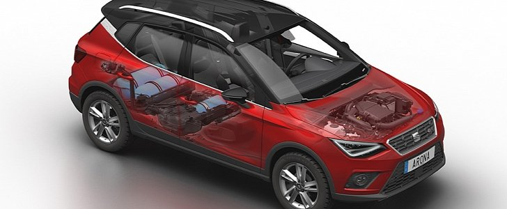 seat arona tgi revealed with 90 hp 1 0 liter cng engine. Black Bedroom Furniture Sets. Home Design Ideas