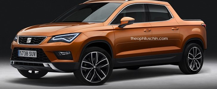 Seat Ateca Pickup Rendering Looks Cooler Than The Vw