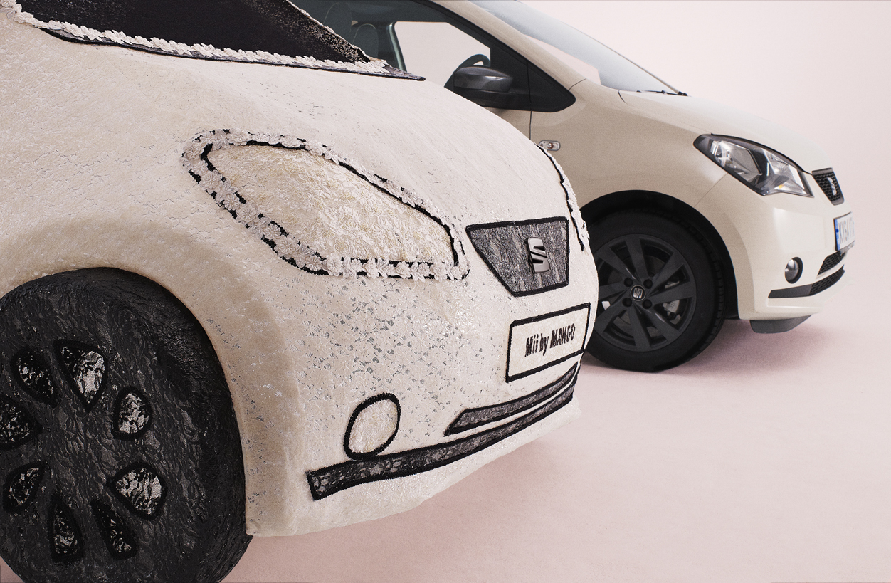 SEAT Unveils World\'s First Fabric Car Made Out of Lace - autoevolution