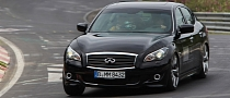 Sebastian Vettel and Mark Webber Hold Infiniti M Nurburgring Race