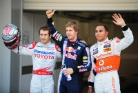 Trulli, Vettel and Hamilton at Suzuka