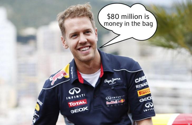 Sebastian Vettels Salary At Ferrari 80 Million A Year