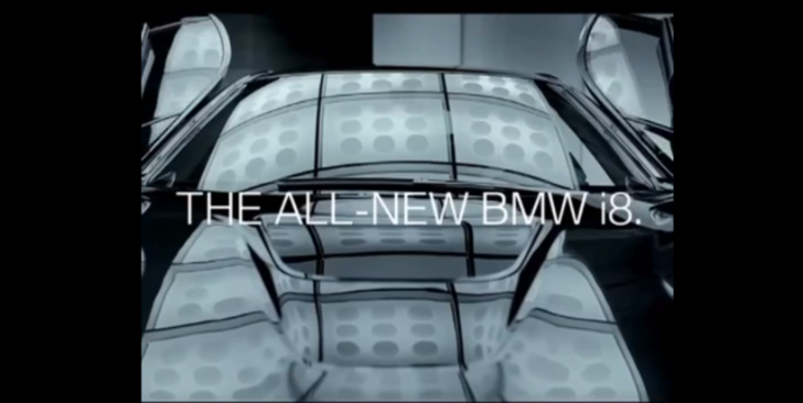 Second BMW i8 Teaser Showcases Butterfly Doors [Video]