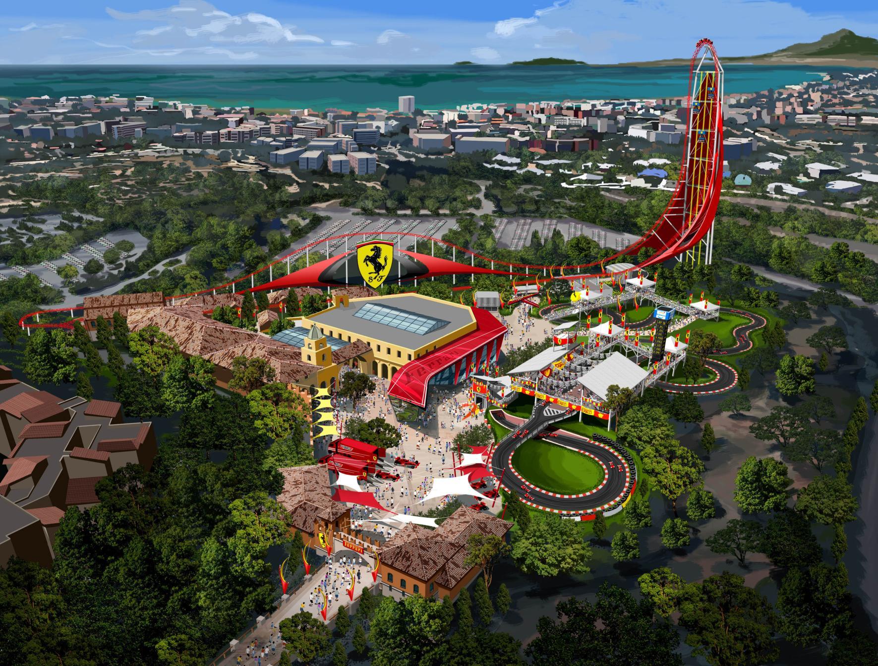 park ferrari new for ip flying aces dubai world theme interpark coaster