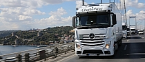 Second Mercedes-Benz Actros Convoy With Supplies For Syrian Refugees