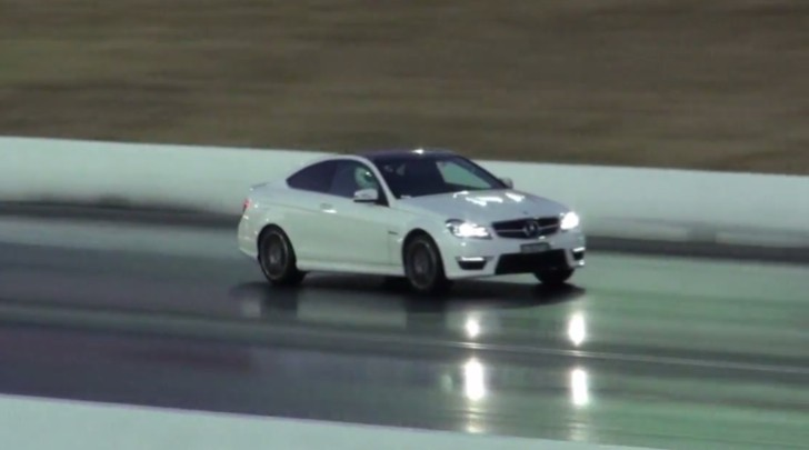 See an Aussie C 63 AMG Coupe Casually Improve its Drag Racing [Video]