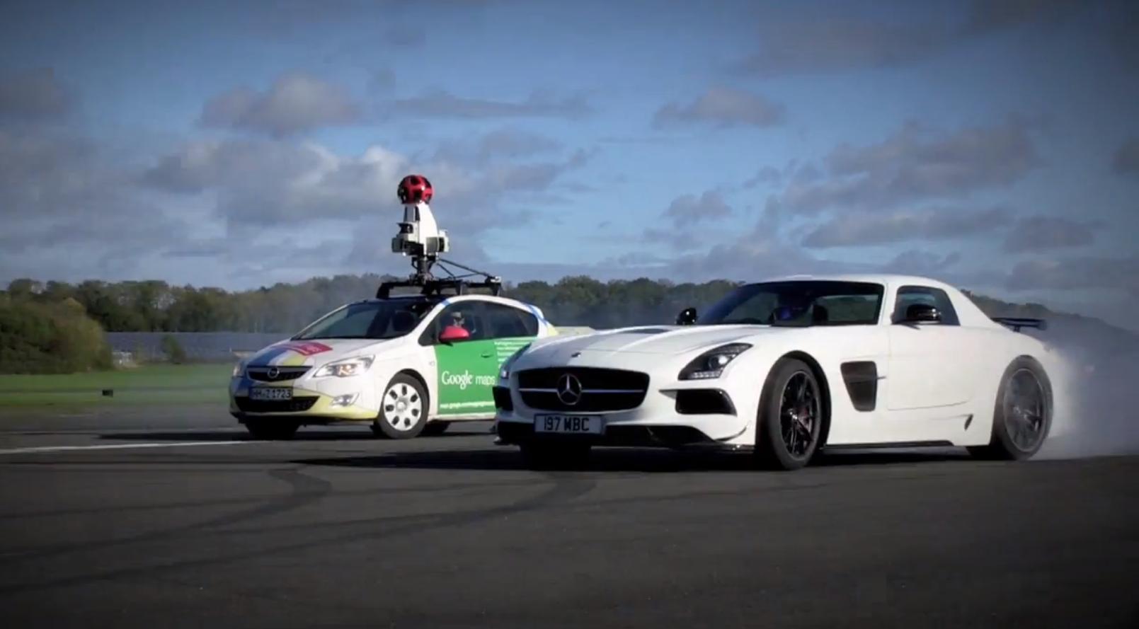 Benz Drift Car >> See The Stig Drift an SLS AMG Black Series on Google StreetView - autoevolution