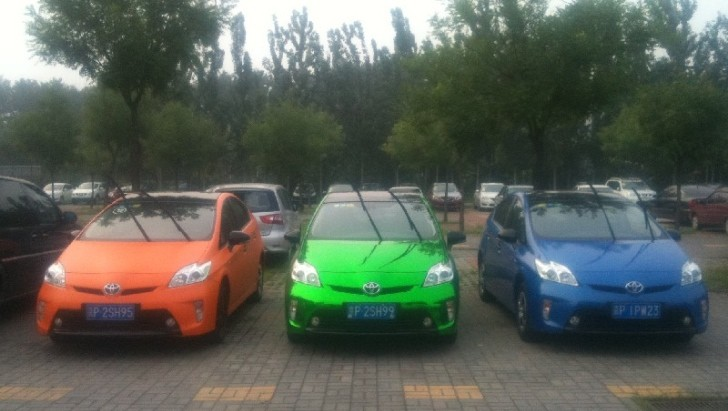 See Three Lively Colored Toyota Prii in China [Photo Gallery]