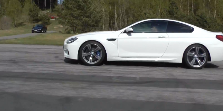 See What Happens When a Jaguar XKR Coupe Races a BMW M6 [Video]