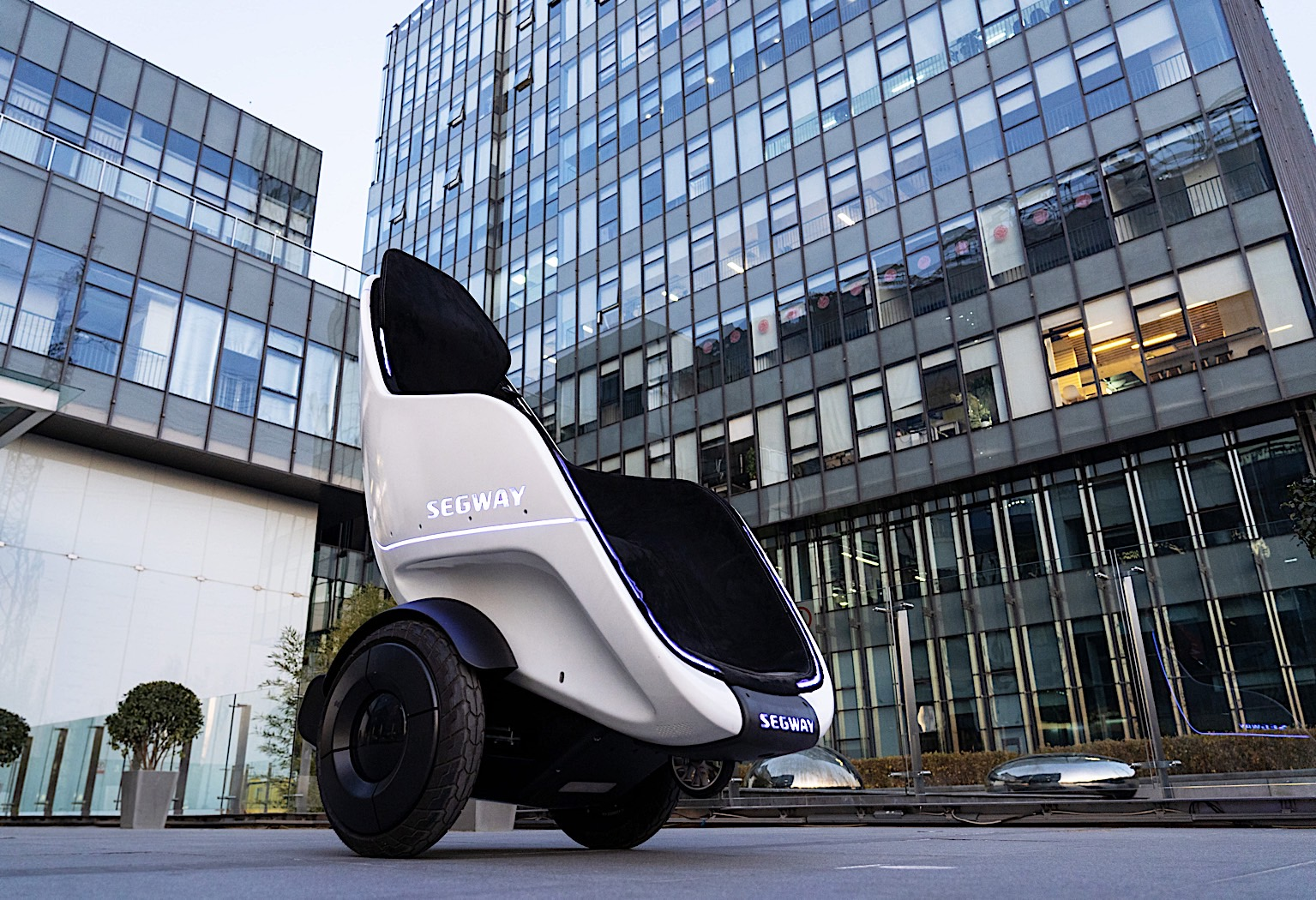 Segway-Ninebot unveils a transportation pod and new kick scooter
