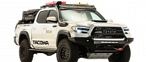 SEMA360 Is Greeted by Overlanding Toyota Tacoma and Trio of Crazy Supras