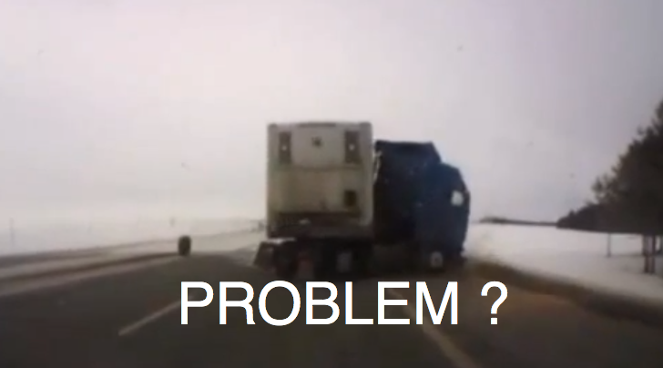 Semi Truck Loses Control on Highway [Video]