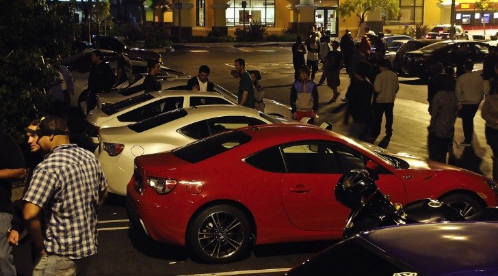 Seven Scion FR-S Coupes at California Meet