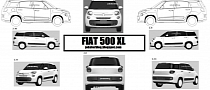 Seven-Seater Fiat 500 XL Confirmed by Patent Drawing?